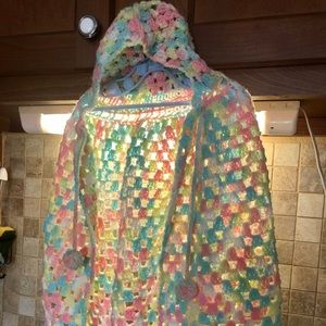 New Hand Knitted Baby Cape